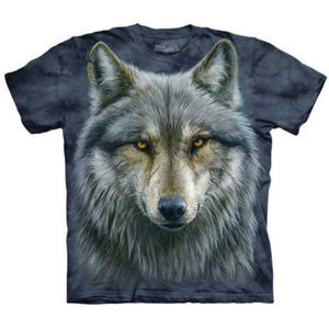 NWOT The Mountain Graphic T-shirt Warrior Wolf